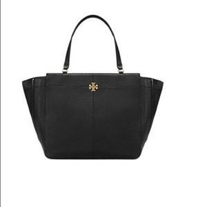 Tory Burch Ivy Side Zip Leather Tote Bag NWT